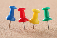 写真 Colorful push pin(5261517)