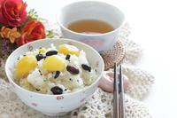 写真 Autumn taste chestnut rice and tea(5262769)