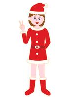 イラスト Sign of female Santa Claus 'Victory'(5265313)
