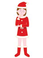 イラスト Embarrassing figure of female Santa Claus(5265314)