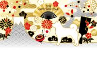 イラスト New Year's Cards Years of Mt. Fuji(5265880)
