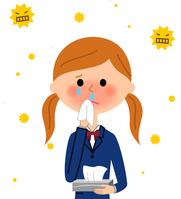 イラスト School girls with hay fever(5266558)