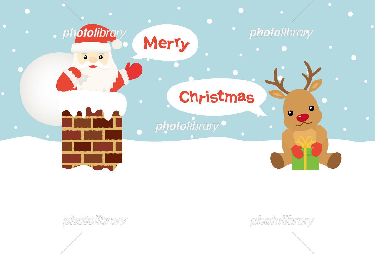 クリスマス サンタクロースとトナカイ イラスト素材 5346062