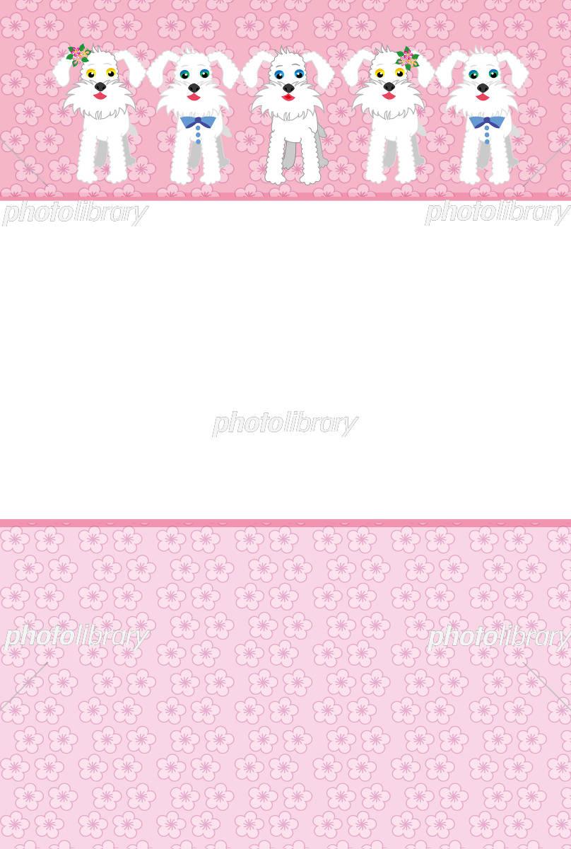 犬便箋テンプレート イラスト素材 811689 フォトライブラリー