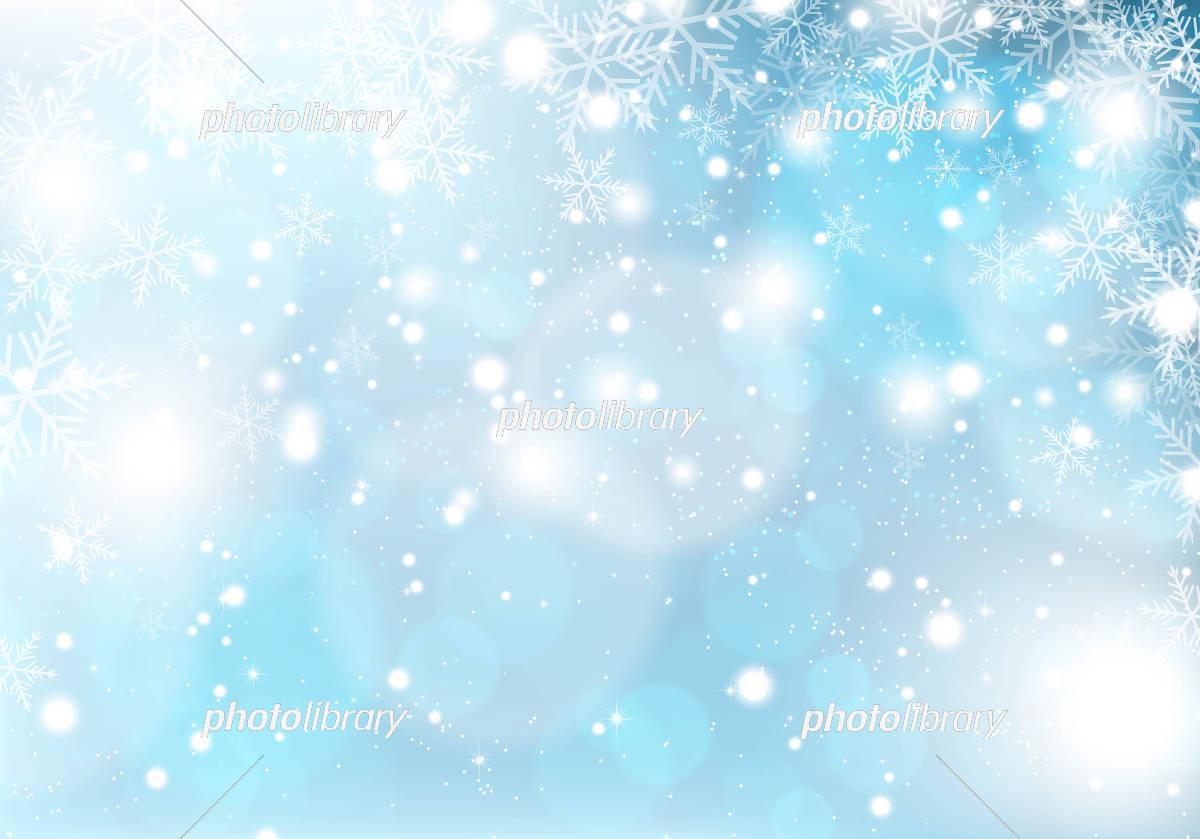雪 結晶 光 背景 イラスト素材 [ 5353214 ] - フォトライブラリー