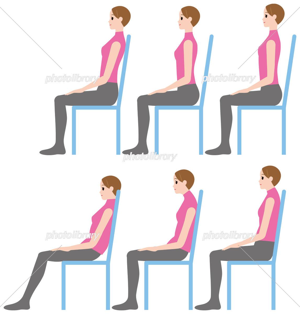 「坐る姿勢」の画像検索結果