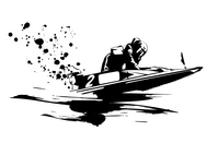 イラスト Motorboat race(5353174)