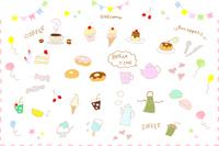 イラスト Hand-painted sweet icon set(5353324)
