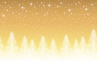 イラスト Seamless snow scene (gold color)(5353766)