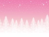 イラスト Seamless snowy landscape (pink)(5353767)