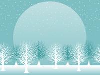 イラスト Seamless snow scene(5353822)