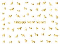 イラスト New Year's cards (gold)(5353839)