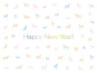 イラスト New Year's card (pastel color)(5353840)