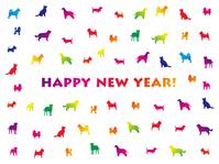 イラスト New Year's card (rainbow color)(5353842)