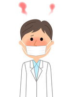 イラスト Male fever in white coat(5354343)