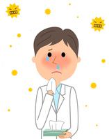 イラスト Male hay fever of white coat(5354359)