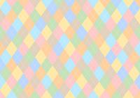 イラスト Colorful Argyle background(5354624)