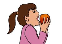 イラスト A girl biting an apple(5355484)