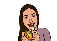 イラスト Women who eat oranges(5355491)
