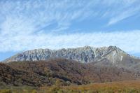 写真 The large mountain south wall of autumn seen from Kofu town(5355556)