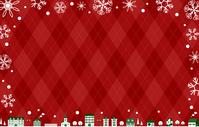 イラスト Cityscape Christmas Argyle background(5355595)