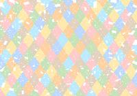 イラスト Colorful Argyle Confetti background(5355712)