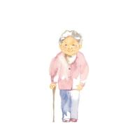 イラスト Grandmother, material(5355765)