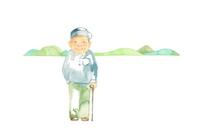 イラスト Distant view of grandfather and mountain(5355790)