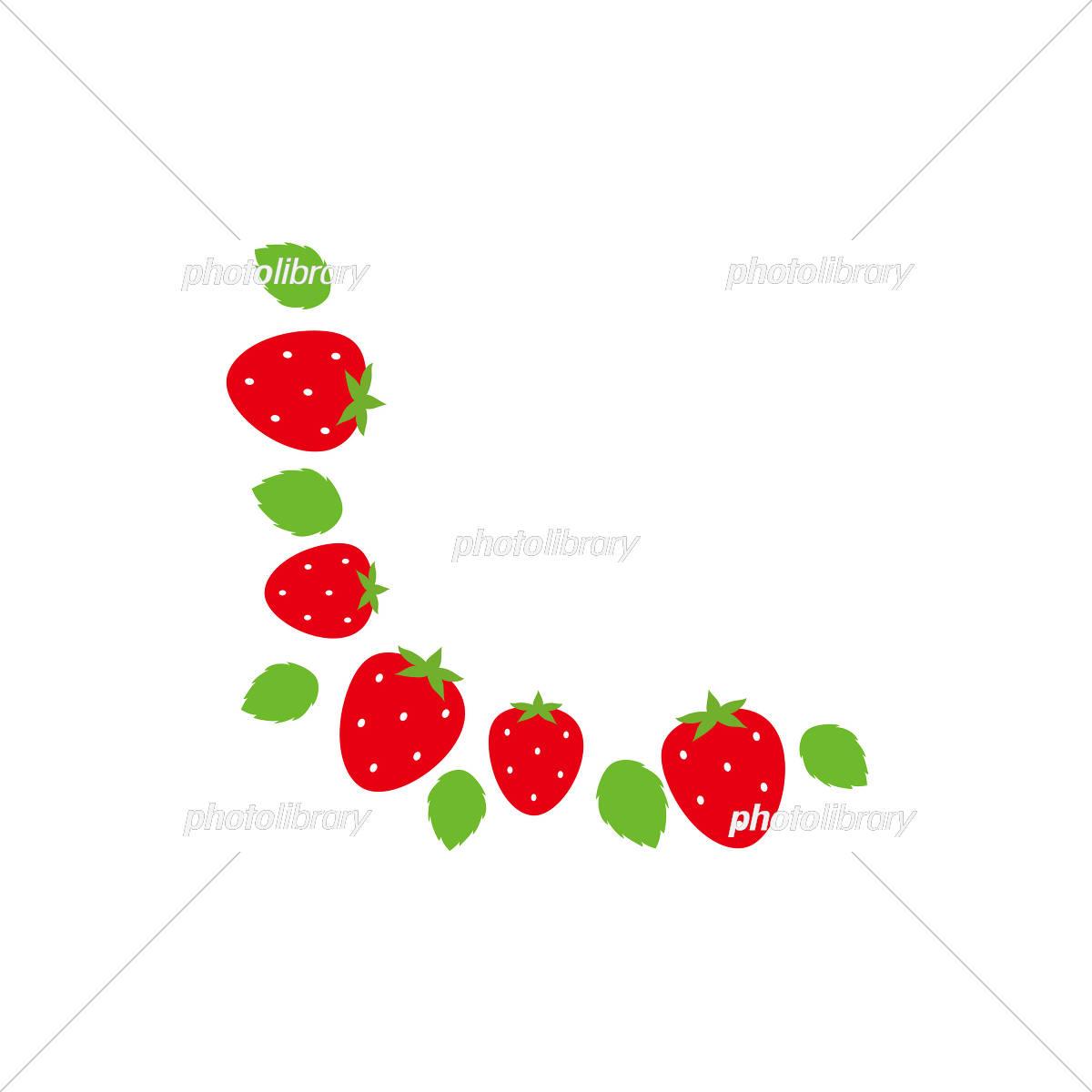 苺 フレーム かわいい イチゴ イラスト素材 フォトライブラリー Photolibrary