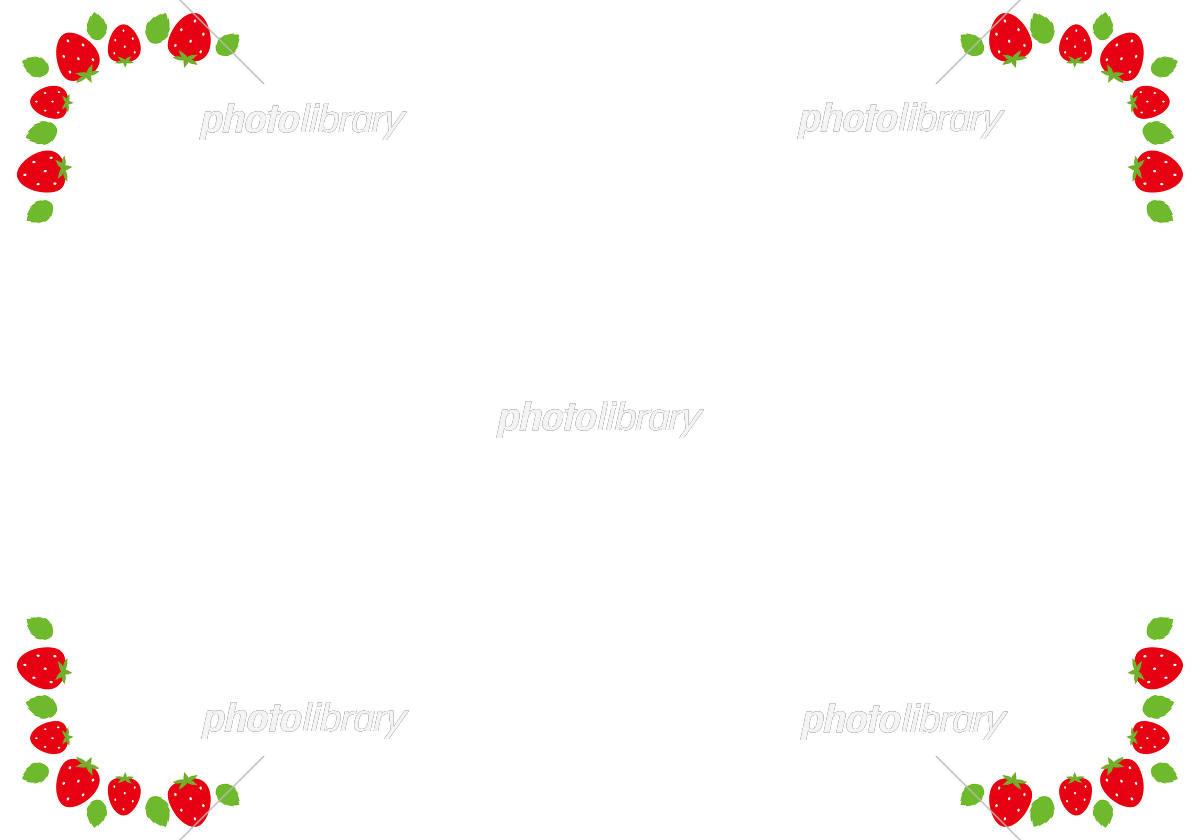 フレーム かわいい 苺 イチゴ イラスト素材 フォトライブラリー Photolibrary
