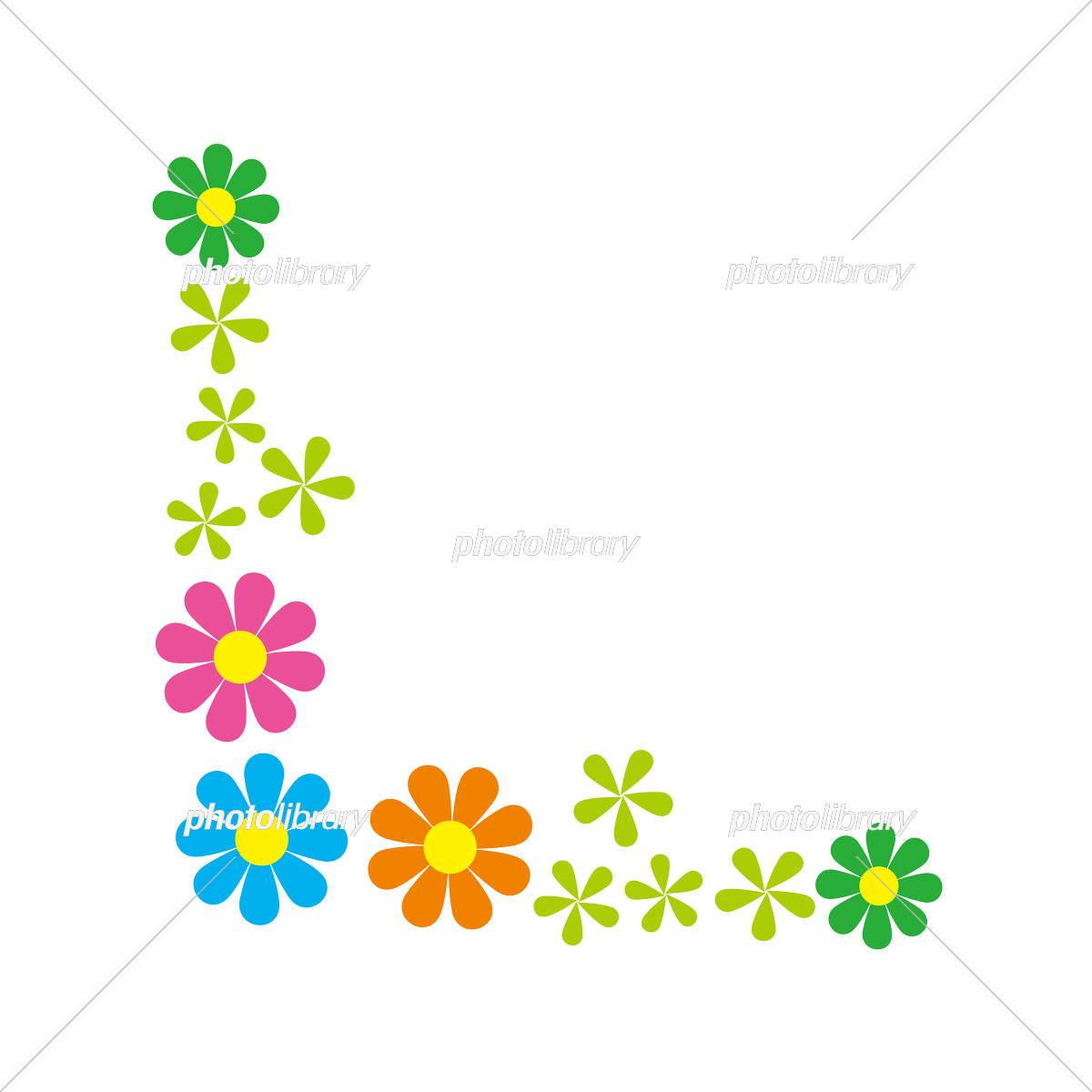 フレーム 背景 かわいい 小花 イラスト素材 [ 5410545 ] - フォトライブ