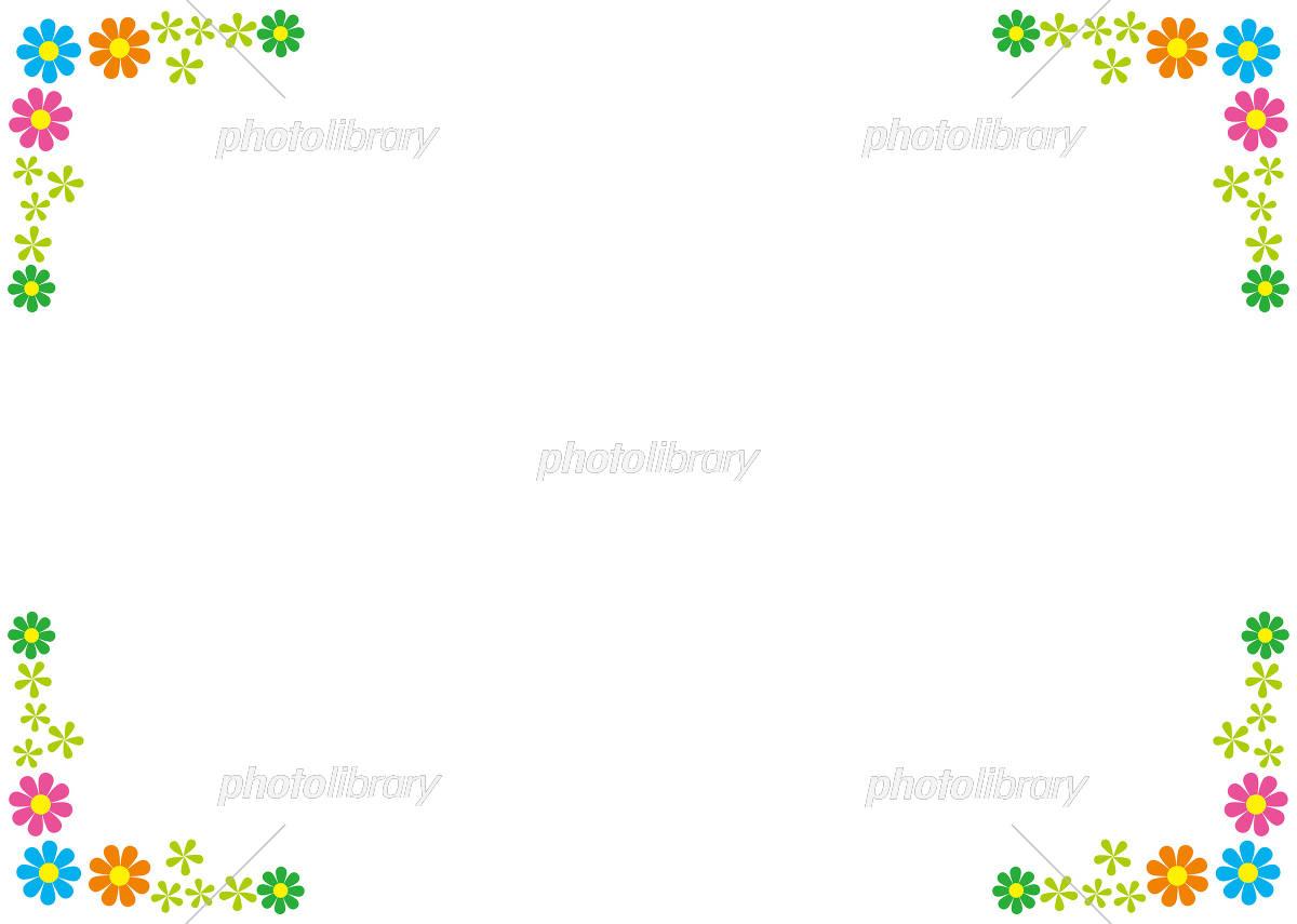 フレーム 背景 かわいい 小花 イラスト素材 [ 5410546 ] - フォト