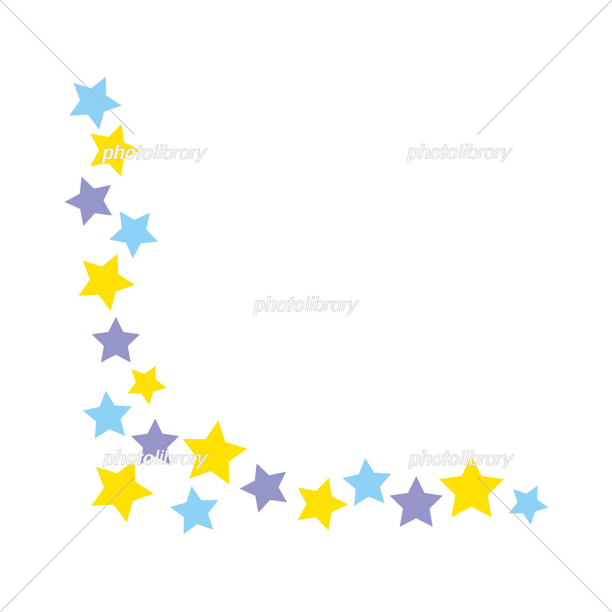 フレーム 背景 かわいい 星 イラスト素材 5410551 フォトライブ