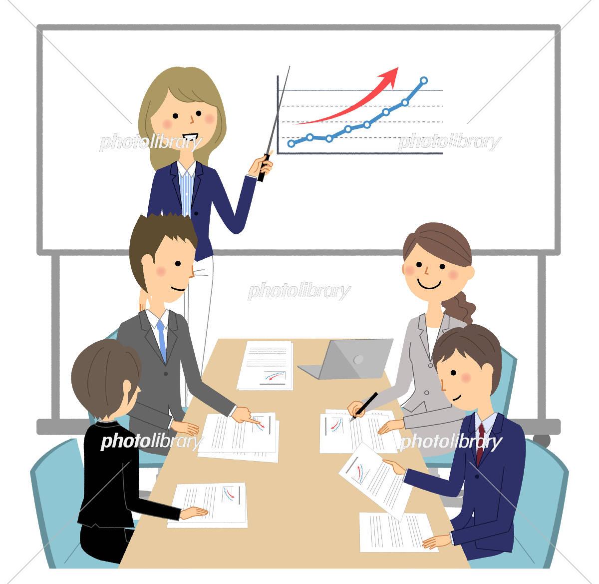ビジネスシーン 会議 イラスト素材 5450228 フォトライブラリー