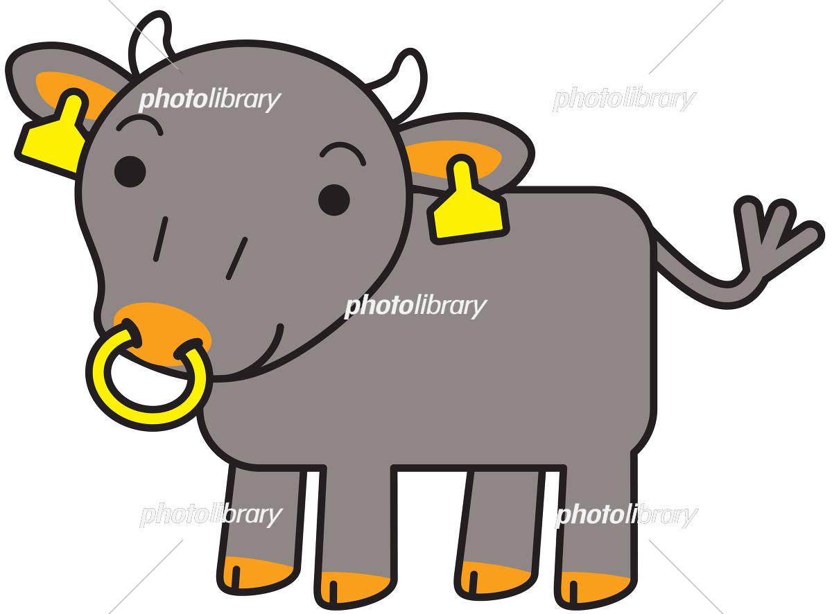 黒毛和牛 キャラクター イラスト素材 [ 5476190 ] - フォトライブラリー