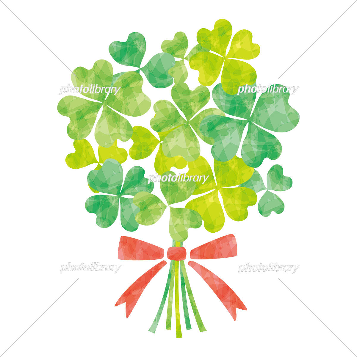 クローバーの花束グリーン イラスト素材 5476811 フォトライブ