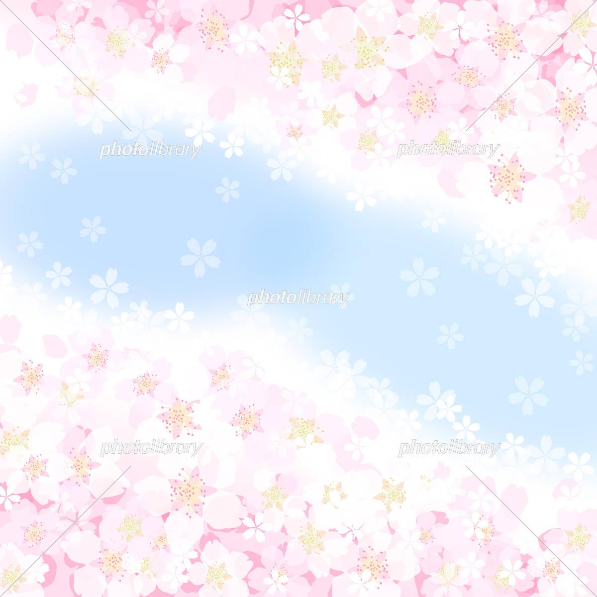 桜 青空 背景 イラスト素材 [ 5482933 ] - フォトライブラリー photolibrary