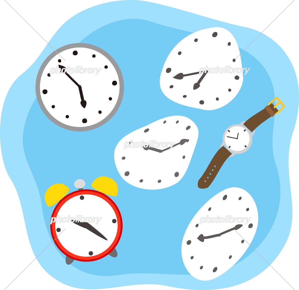 時計と時間のイメージ イラスト素材 [ 5512081 ] - フォトライブラリー photolibrary