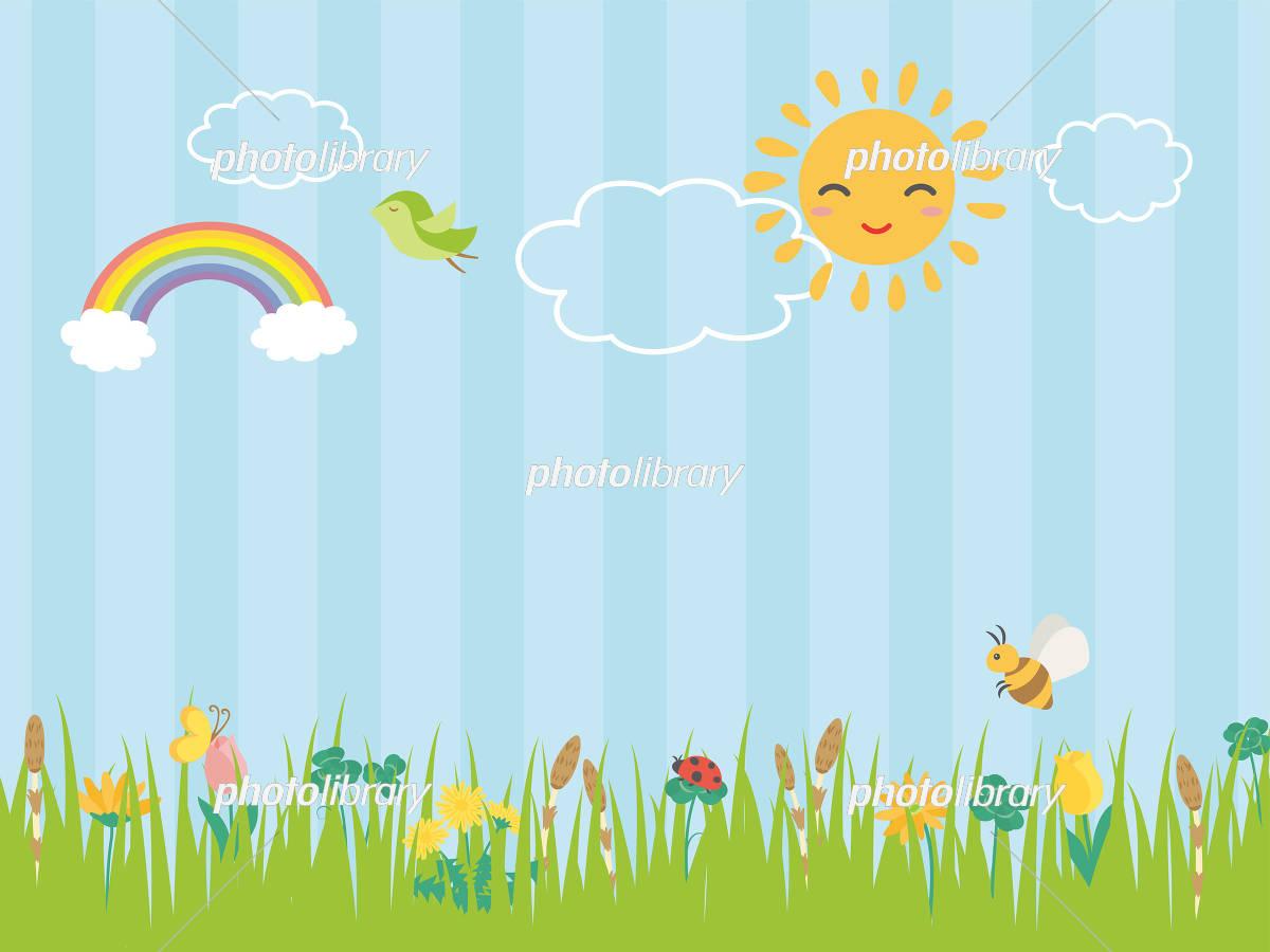 春の草花 草原の風景 イラスト素材 5515773 フォトライブラリー