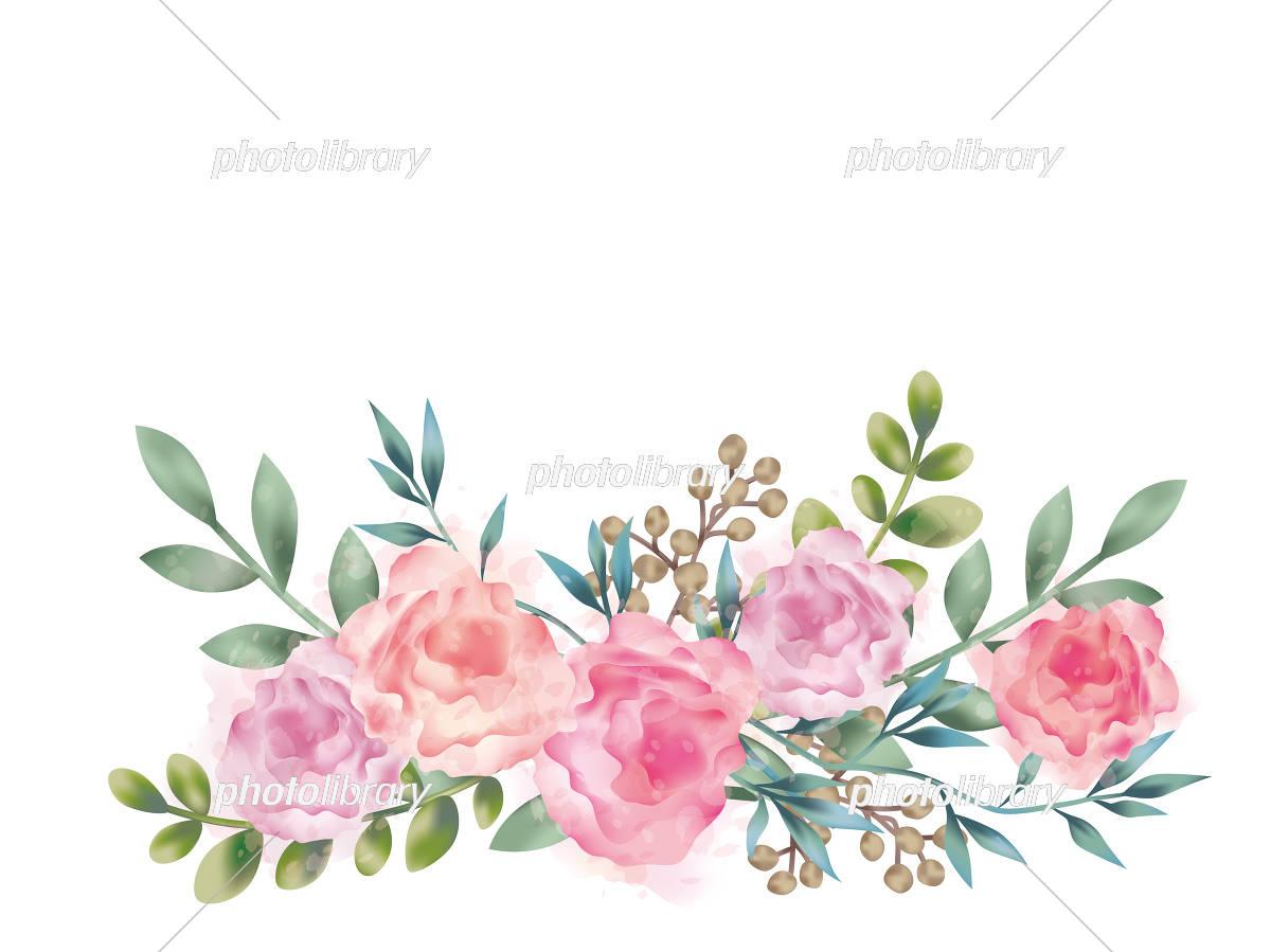 水彩風 花の背景イラスト イラスト素材 [ 5546087 ] - フォトライブ