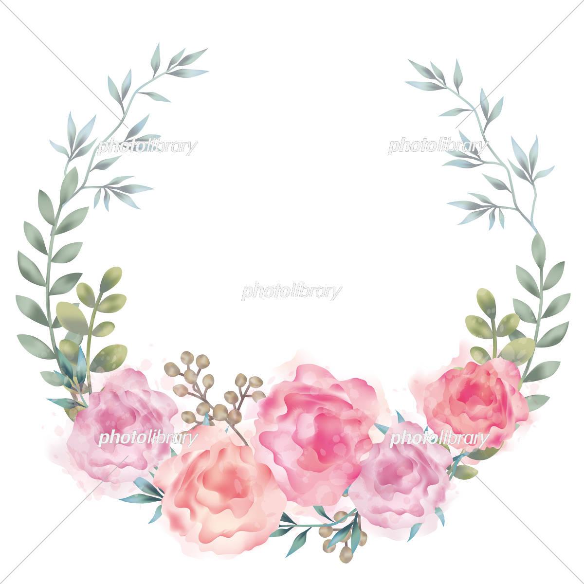 水彩風 花の背景イラスト イラスト素材 [ 5546088 ] - フォトライブ