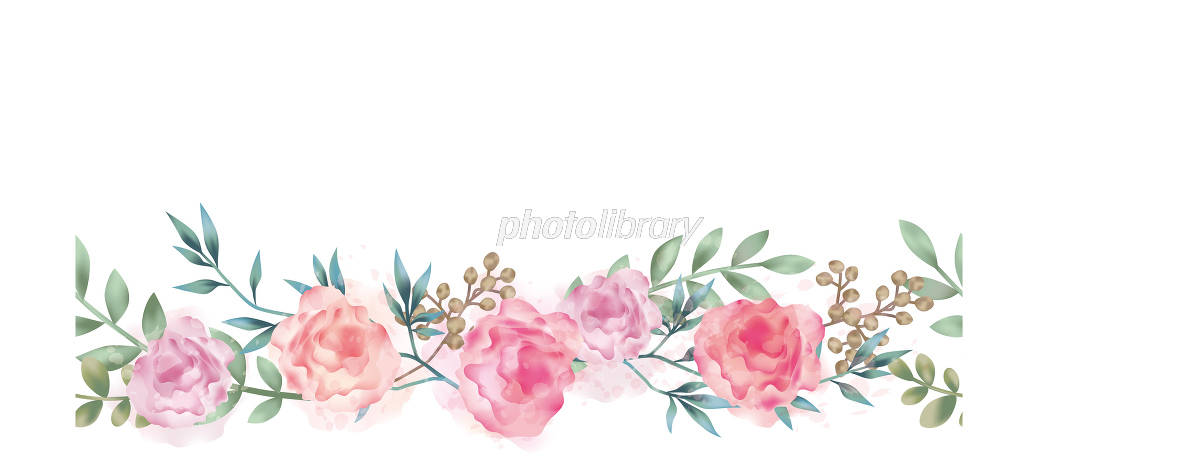 水彩風 シームレスな花の背景イラスト イラスト素材 5546096