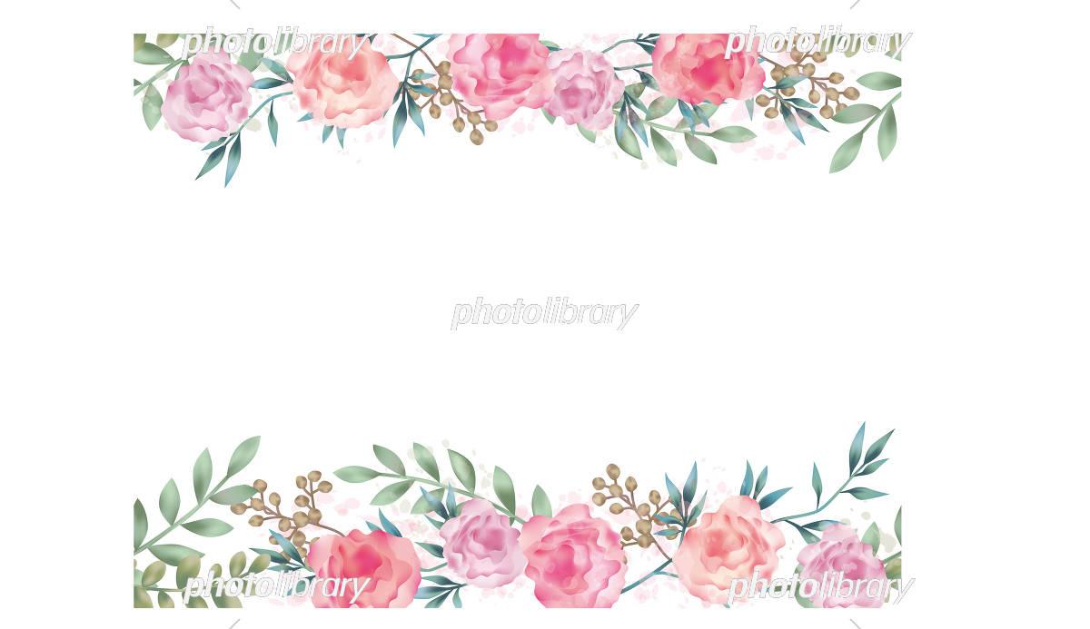 水彩風 シームレスな花の背景イラスト イラスト素材 5546100