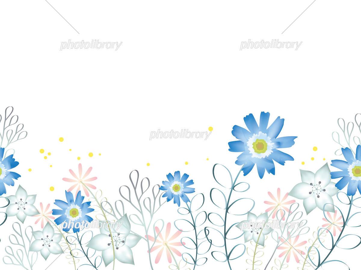 水彩風 シームレスな花の背景イラスト イラスト素材 5549993