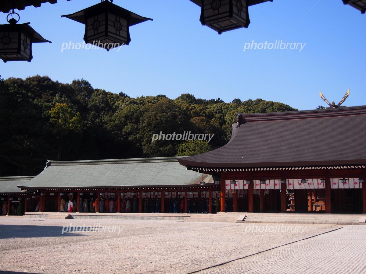 橿原神宮 内拝殿 写真素材 [ 555...