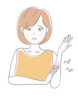 イラスト Female arm inflammation(5544523)