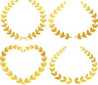 イラスト Set of laurel decoration(5544883)