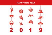 イラスト New Year's cards illustration in 2019(5546159)
