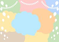 イラスト Garland balloon balloon background(5546427)