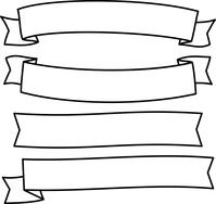 イラスト Illustration set of handwritten ribbon(5546699)